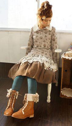 #morikei, #mori, #forestgirl  http://item.rakuten.co.jp/onepi-c/w8865/  http://monmonmori.tumblr.com/