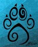 paw print & heart tattoo designs