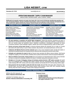 Materials Manager Resume Business Operations Manager Resume Template Purchase  Operations .