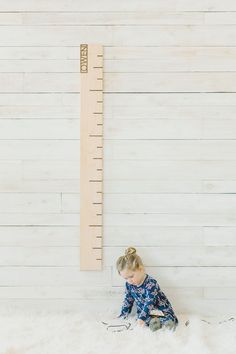 Personalized Maple Growth Chart Ruler