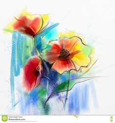 Abstract Watercolor Painting Of Spring Flower - Download From Over 60 Million High Quality Stock Photos, Images, Vectors. Sign up for FREE today. Image: 72137719