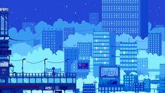 Running late by faxdoc - Pixel Art Neon Aesthetic, Aesthetic Anime, Animation Pixel, Pixel Art Background, Art Kawaii, 8 Bit Art, Pixel Games, Aesthetic Desktop Wallpaper, Anime Scenery