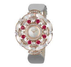 Mickey Watch, Bvlgari Watches, Gold Diamond Watches, Expensive Watches, 18k Rose Gold, Colored Diamonds, Bracelet Watch, Bling, Elegant