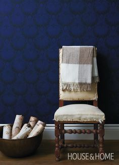 Update A Chair Back | Photo Gallery: Blanket Display Ideas | House & Home | Photo by John Cullen