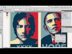 ▶ Create An Obama Style Hope Poster In Adobe Illustrator - YouTube
