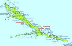 A map of Exuma Bahamas