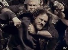 sons of anarchy brawl pictures   Sons Of Anarchy' Season 6 Promo Is A Giant Slow-Motion Brawl (VIDEO)