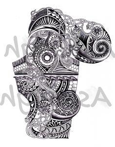 art-nouveau-inspired-polynesian-sleeve.jpg 1,228×1,573 pixels