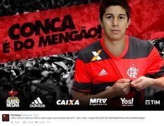 Rio -Agora é oficial. O Flamengo anunciou quase no início da madrugada desta terça-feira a contratação de Dario Conca, meia argentino que tem seu nome da história do Fluminense, eterno rival dos rubro-negros. O jogador segue pertencendo ao Shanghai SIPG, da China, mas volta ao Brasil por meio de em
