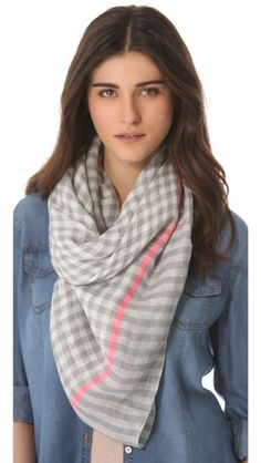 Marc by Marc Jacobs Woven Belinda Check Scarf... or this with black maxi