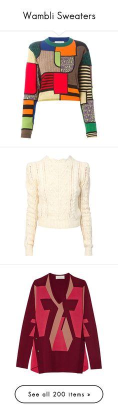 """Wambli Sweaters"" by wambliwakan ❤ liked on Polyvore featuring tops, sweaters, black, black long sleeve sweater, long sleeve tops, long sleeve sweaters, geometric print sweater, long sleeve crop top, long sleeve pullover sweater and white pullover sweater"
