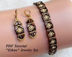 Beading Tutorial Susan Bracelet and Earrings | Etsy