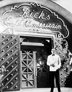 "Humphrey Bogart in front or Rick's Cafe - ""Casablanca"""
