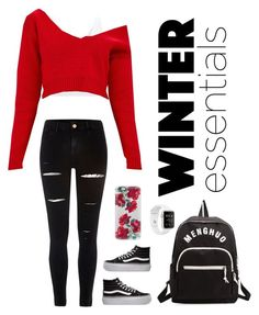 """""""Winter Essentials"""" by natalialovesnutella ❤ liked on Polyvore featuring Miss Selfridge, Vans, Casetify and River Island"""