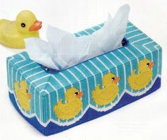Just Ducky Tissue Cover Plastic Canvas Pattern New | eBay