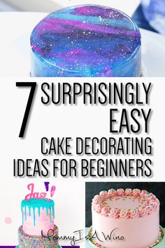 diy birthday cake Easy Cake Decorating Ideas for Beginners - How To Decorate Cake For Beginners - 7 Surprisingly Easy Cake Decorating Ideas Cake Decorating For Beginners, Easy Cake Decorating, Birthday Cake Decorating, Cake Decorating Techniques, Cake Decorating Tutorials, Decorating Ideas, Chocolate Birthday Cake Decoration, Cake Recipes For Beginners, Professional Cake Decorating
