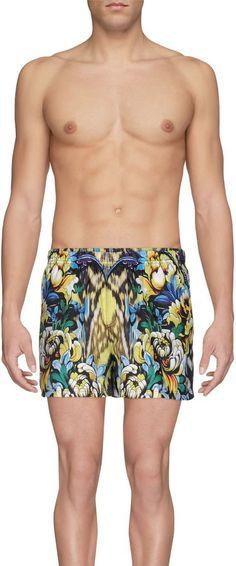 JUST CAVALLI BEACHWEAR Swimming trunks Men's Swimsuits, Swimwear, Swim Trunks, Beachwear, Swimming, Fashion, Bathing Suits, Beach Playsuit, Swim