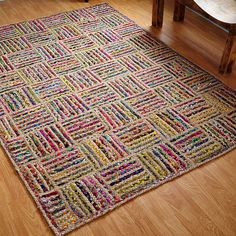 Extend your bohemian style to the floor with the Better Trends Criss Cross Braided Rug. This unique and colorful rug features natural and multicolored braided stripes in a visually appealing patchwork design. Braided Rugs, Jute Rug, Woven Rug, Rectangular Rugs, Recycled Fabric, Scrap Fabric, Indoor Rugs, Online Home Decor Stores, Online Shopping
