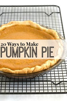 Making some pumpkin pie for dessert? From traditional to unique - 20 easy pumpkin recipes to make the perfect pumpkin pie! Yum! (And be sure to see the recipe for the best pie crust recipe ever!)