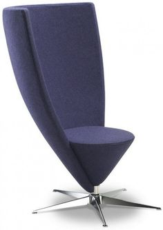 Modern Chair with Long Conical Backrest by Bjarke Nielsen