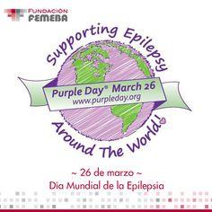 Día Mundial de la Epilepsia: Purple Day La OMS calcula que casi 10 de cada 1000 personas en todo el mundo padecen epilepsia, lo que equivale a casi 50 millones de personas. La mayor parte de estos casos (un 90 por ciento) se registran en países en vías de desarrollo, mientras que los países desarrollados se estima que hay entre 40 y 70 nuevos casos por cada 100.000 personas. Más info: http://www.purpleday.org/