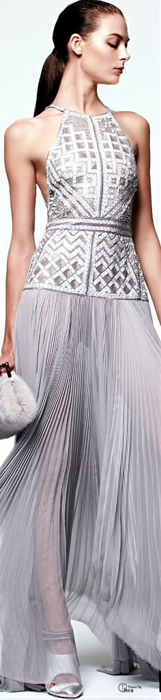 Simple lines are a great foil for the embellishment on this top/skirt combo ( might be one piece~ I cannot tell on just 1/2 mug of coffee~lol. ;-) J. Mendel ● Pre-Fall 2014