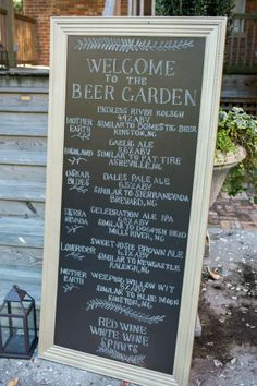 Beer Garden Menu by Kickstand Events