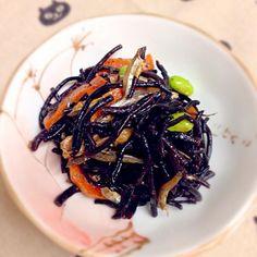 ヒジキの煮物👯 by にゃんこmo at 2014-04-21