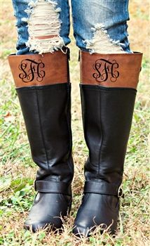 Later On Riding Boots with MONOGRAM $61.50 #SouthernFriedChics