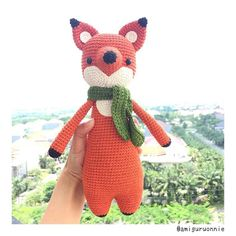 Fox by amiguruonnie. Crochet pattern by Little Bear Crochets: www.littlebearcrochets.com ❤️ #littlebearcrochets #amigurumi