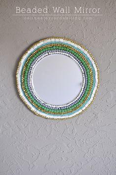 Beaded Wall Mirror, Delineateyourdwelling.com