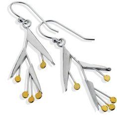 Sterling Silver jewellery, Sterling Silver Bird Of Paradise Flower Earrings