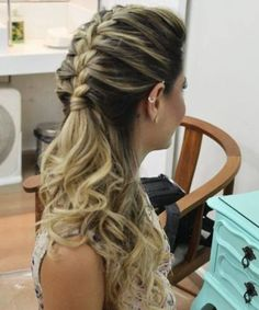 Chic Long Braided Pony Hairstyles for Prom 2018