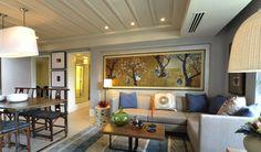Rockwell Land - The Grove - Living Room Condo Living, Living Room, Real Living Magazine, Modern Condo, House Design, Condo Design, Relax, Architecture, Furniture