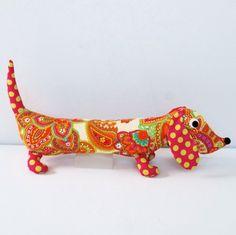 Paisley the Weiner Dog Plush Dachshund by FriendsOfSocktopus