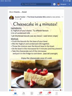 Shortbread Biscuits, Condensed Milk, Crisp, Cheesecake, Lemon, Snacks, Sweet, Desserts, Recipes