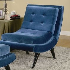 I pinned this Gemstone Accent Chair in Cerulean from the Gorgeous Gems event at Joss and Main!