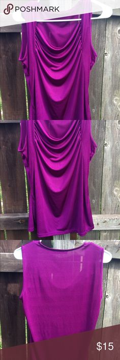 Beautiful royal purple top Fits snug very sexy for a night out The Limited Tops Blouses