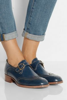See by Chloé|Monk-strap leather brogues|NET-A-PORTER.COM