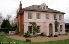 The fact that it's pale pink makes me love this gorgeous British Country house all the more. Soooo marvelous!
