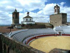La Plaza de Toros de Fregenal se encuentra en el Patio de Armas del Castillo. También en el Castillo se encuentra la Plaza de Abastos.