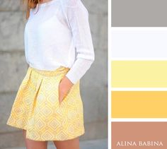 NEUTRALS: Tan, Gray, White || ACCENTS: Light Yellow, Goldenrod