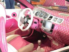 Pink cars | LUUUX... OMG it's like they knew exactly what I wanted in my life<3