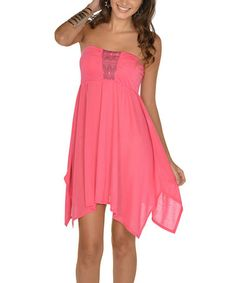 Another great find on #zulily! Hot Pink Strapless Dress #zulilyfinds