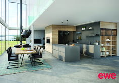 Ewe kitchens are one of the leading kitchen furniture specialists in Austria. Long lasting quality and design Modern Kitchen Design, Trends, Kitchen Furniture, Loft, House Design, Inspiration, Table, Dream Life, Home Decor