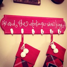 And The Stockings Were Hung Christmas Stocking by thebeezeknees, $40.00