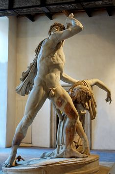 Gaul Killing Himself and His Wife (also known as the Ludovisi Gaul or the Galatian Suicide). Roman copy (dating to the 2nd century AD) of a Hellenistic original c 230-20BC commissioned by Attalus I after his victories over the Galatians.