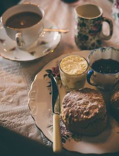 Scones with jam and cream are one of my favourite things to eat. Accompanied by a big pot of tea.