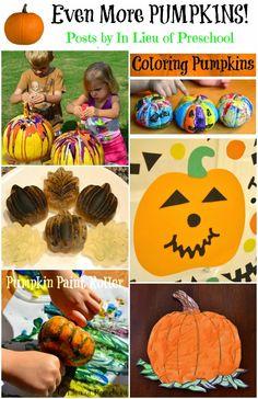 Pumpkin posts on In Lieu of Preschool