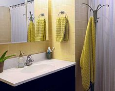 A beautiful bathroom coat rack used for hanging towels